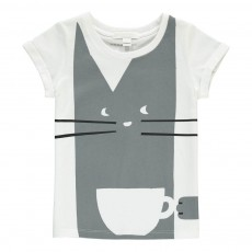 T-Shirt Tea Cat Gris