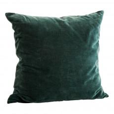 Coussin velours carré 50x50 cm Vert sapin