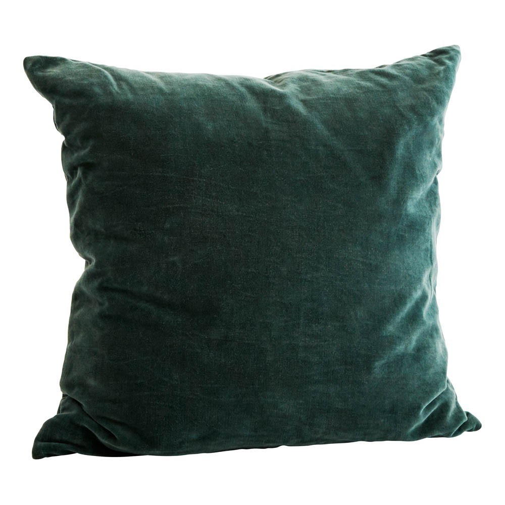 coussin velours carr 50x50 cm vert sapin madam stoltz d coration smallable. Black Bedroom Furniture Sets. Home Design Ideas