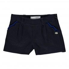 Short Jacquard Bleu marine