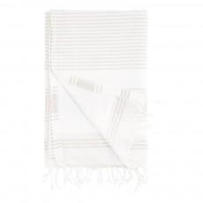 Serviette-fouta rayures 90x180 cm Gris clair