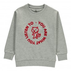 Sweat London Kid - Collection Enfant - Gris chiné
