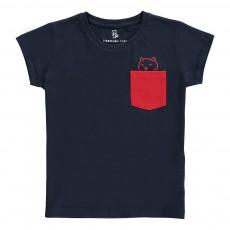 T-Shirt Poche Contrastée Venice Kid - Collection Enfant - Bleu marine