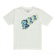 T-Shirt Tigre Disco Kid - Collection Enfant - Blanc