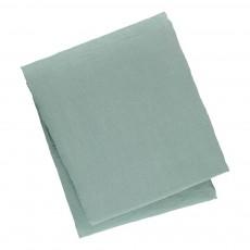 Housse de couette en lin lavé Bleu Vert