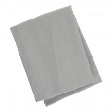 Housse de couette en lin lavé Bleu gris
