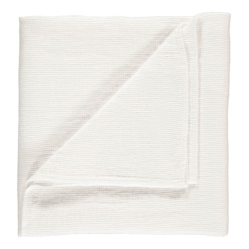 plaid de lit ou drap de plage g ant en nid d 39 abeille de lin blanc linge particulier d coration. Black Bedroom Furniture Sets. Home Design Ideas