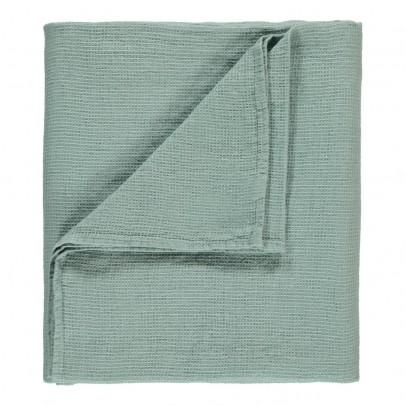 plaid de lit ou drap de plage g ant en nid d 39 abeille de lin bleu vert linge particulier. Black Bedroom Furniture Sets. Home Design Ideas