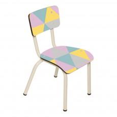 Chaise enfant Little Suzie - Imprimé Géométrique Multicolore