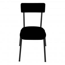 Chaise adulte Suzie - Noir/pieds noirs