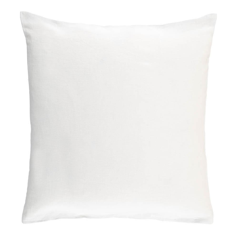 Housse de coussin en lin lav blanc linge particulier d coration smallable - Housse de coussin lin lave ...