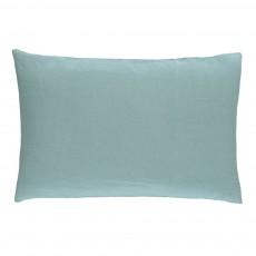 Taie en lin lavé Bleu Vert