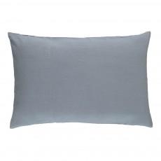 Taie en lin lavé Bleu gris