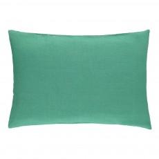 Taie en lin lavé Vert émeraude
