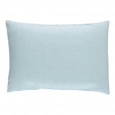 Taie en lin lavé Bleu pâle