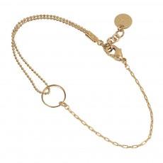 Bracelet Réglable Laiton Doré à L'Or Fin Midtown