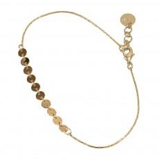 Bracelet Réglable Laiton Doré à L'Or Fin Glenwood