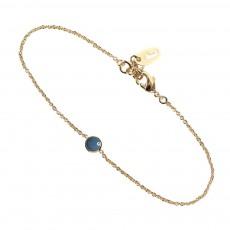 Bracelet Réglable Laiton Doré à L'Or Fin Barlow Bleu