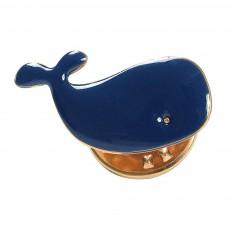 Pins Baleine Maggie Bleu marine