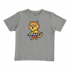 T-Shirt Tigre Keyboard Kid - Collection Enfant - Gris chiné