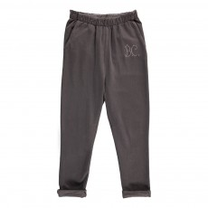 Pantalon Baggy Molleton Gris anthracite