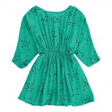 Robe Taille Resserrée Vert