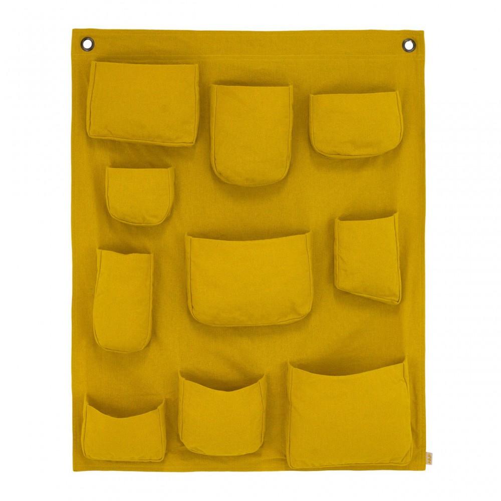 Pochette murale jaune tournesol numero 74 d coration - Pochette murale de rangement ...