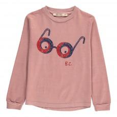 T-Shirt ML Lunettes Coton Bio Vieux Rose