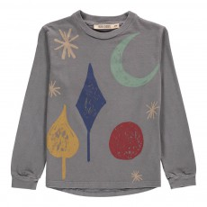 T-Shirt ML Lune Coton Bio Gris