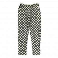 Pantalon Baggy Molleton Damiers Noir