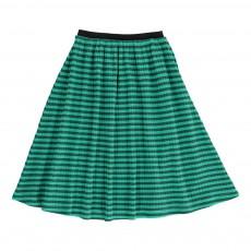 Jupe Longue Rayée Coton Bio Vert