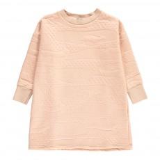 Robe Molleton Texturé Rose pâle