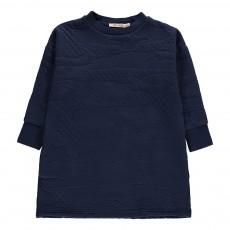 Robe Molleton Texturé Bleu marine