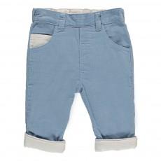 Pantalon Velours Souple Réversible Gris clair