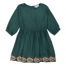 Robe Brodée Thétis Vert sapin