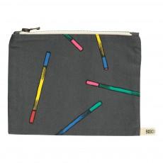 Grande Trousse Batons Multicolores Gris anthracite