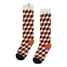 Chaussettes Géométriques Orange