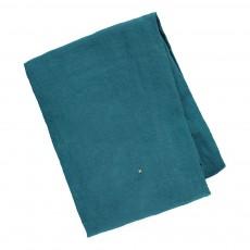 Drap housse en lin lavé Bleu