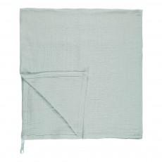 Lange-plaid en mousseline de coton 120x120 cm Vert pâle