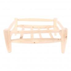 Panier/égouttoir en bois carré 30X30 cm Naturel
