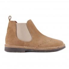 Boots Chelsea Suède Beige