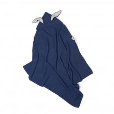 Couverture lapin Bleu indigo