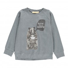 "Sweat Ours ""Gentleman"" Chaz Bleu gris"