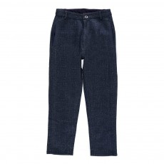 Pantalon Molleton Chevrons Linus Bleu marine