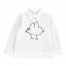 Chemise Oiseau Dos Zippé Blanc
