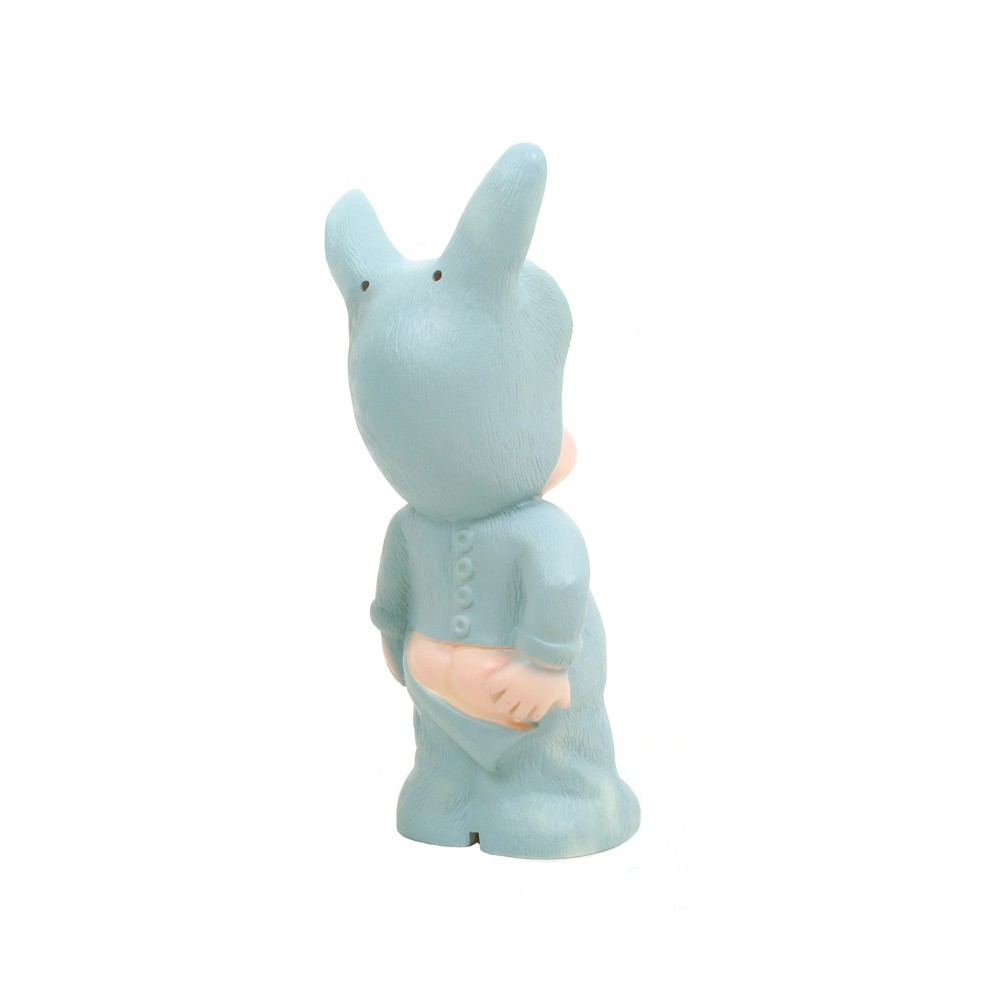 Lampe baby lapin bleu turquoise lapin and me d coration for Lampe de chevet lapin