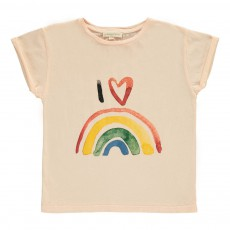 T-shirt Rainbow Rose poudré