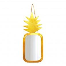 Miroir ananas 30x20 cm Doré
