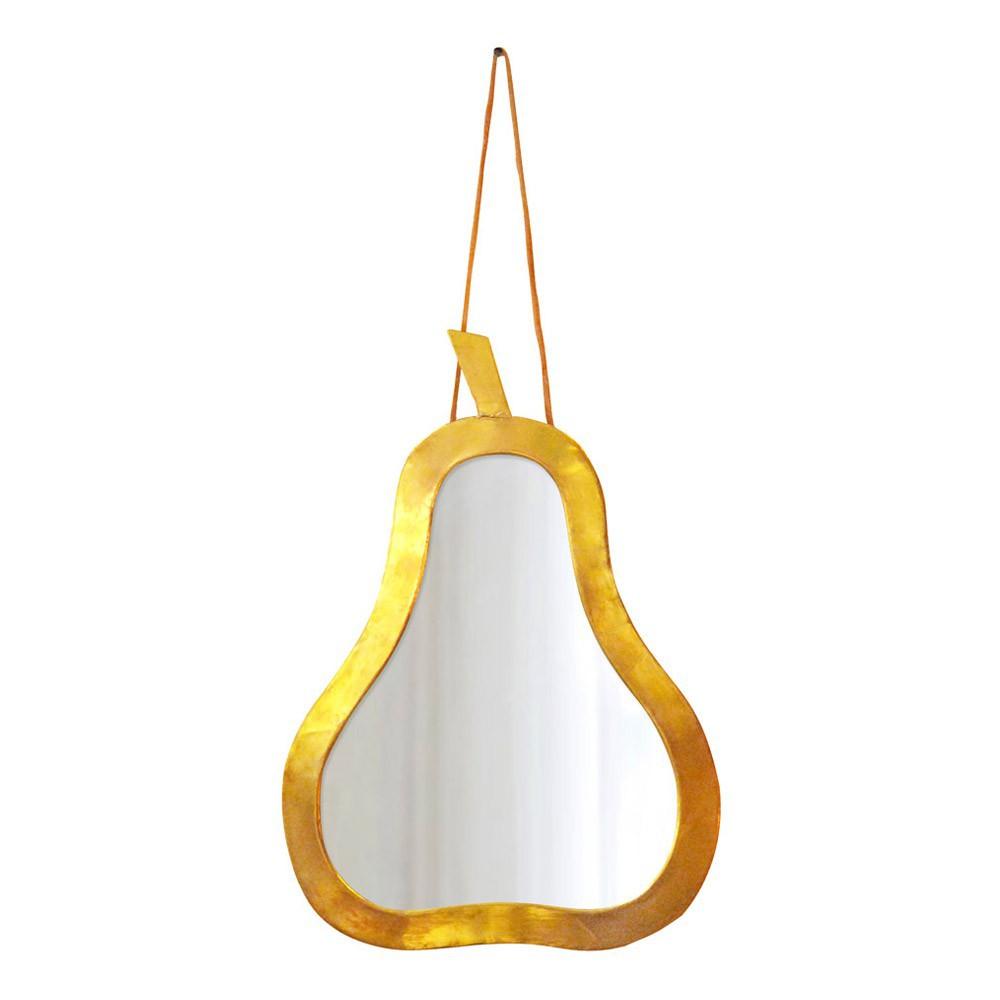 Miroir poire 30x20 cm dor honor d coration smallable for Fabrication d un miroir