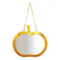 Miroir pomme 30x20 cm Doré